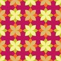 Seamless decorative floral background. Vector illustration. Retro motif.