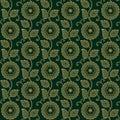 Seamless decorative flower pattern background