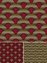 Seamless decorative golden pattern Royalty Free Stock Photo
