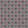 Seamless decorative labyrinthine pattern. Royalty Free Stock Photography