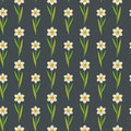 Seamless decorative stylized daffodils pattern Stock Images