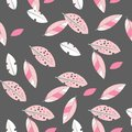 Seamless decorative template texture with leaves