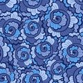 Seamless decorative wavy pattern bright blue Royalty Free Stock Image