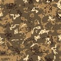 Seamless desert camouflage of pixel pattern