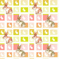 A seamless design with bunnies illustration of Royalty Free Stock Photos