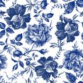 Seamless design with roses flowers. Fairytale forest. hand drawn vintage botanical pattern line graphics. fashion textile design I