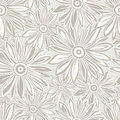 Seamless designer floral background vector Stock Images