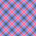 Seamless Diagonal Plaid Stock Photo