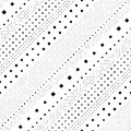 Seamless Diagonal Stripe Pattern. Vector Black and White Geometric Background