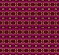Seamless diamond and ellipses pattern purple green