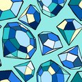 Seamless diamond pattern Stock Photos