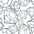 Seamless diamond pattern vector illustration Stock Photo