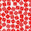 Seamless dice background vector illustration Stock Images