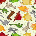 Seamless dinosaur pattern Royalty Free Stock Images