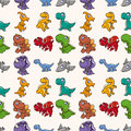 Seamless Dinosaurs pattern Royalty Free Stock Photo