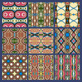 Seamless dirty dark blue vintage geometric pattern Royalty Free Stock Photo