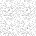 Seamless distorted pattern. Abstract curve background. White texture.