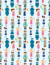 Seamless doctor and nurse pattern Stock Image