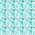Seamless Dog Paw Prints Background Royalty Free Stock Photo