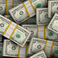 Seamless Dollars background Stock Photography