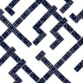 Seamless domino pattern game with black on white Royalty Free Stock Photography