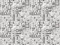 Seamless doodle communication pattern