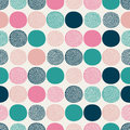 Seamless doodle dots pattern