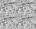 Seamless doodle halloween holiday background cartoon illustration Stock Photography