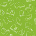 Seamless Doodle Pattern - Books Stock Photo