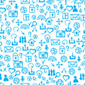 Seamless doodle pattern. communication & internet textures vect