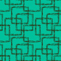 Seamless doodle squares pattern Stock Photos