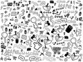 Seamless doodle web pattern Stock Photo