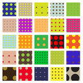 Seamless Dots Swatch Pattern Set Royalty Free Stock Photo
