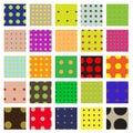 Seamless Dots Swatch Pattern Set Royalty Free Stock Photo