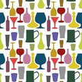 Seamless drinks background Stock Photo