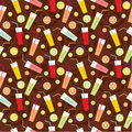 Seamless drinks pattern Stock Image