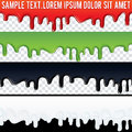 Seamless Drip Liquid Banner. Ready for Your Text Royalty Free Stock Photo