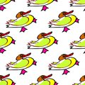 Seamless duck vector pattern with bright yellow image. For baby albums, cards, invitations, wedding, backgrounds and scrapbooks Royalty Free Stock Photo