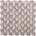 Seamless earth-colored diamond-shaped marble and glass Mosaic pattern Royalty Free Stock Photo