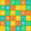Seamless Easter background Royalty Free Stock Photos
