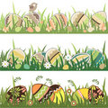 Seamless easter borders Royalty Free Stock Photos