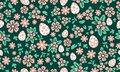 Seamless Easter egg pattern background, with leaf and floral cute design