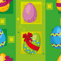 Seamless easter eggs Royalty Free Stock Image
