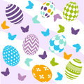 Seamless easter pattern and digital scrapbook Royalty Free Stock Photos