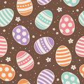 Seamless easter pattern vector illustration Royalty Free Stock Photo