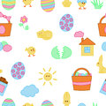 Seamless Easter texture Royalty Free Stock Photo