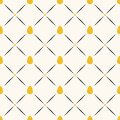 Seamless easter vector pattern with flat eggs and small circles in golden glitter and lines, shine gold sprinkles effect Royalty Free Stock Photo