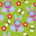 Seamless Easter wallpaper Stock Image