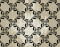 Seamless ecological pattern on grunge background Royalty Free Stock Photography