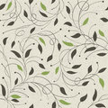 Seamless ecology pattern with leaves Stock Images